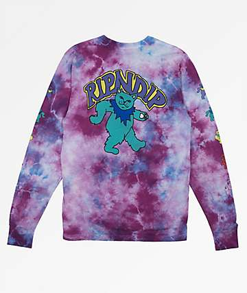 RIPNDIP Dancing Nermal Purple Tie Dye T-Shirt