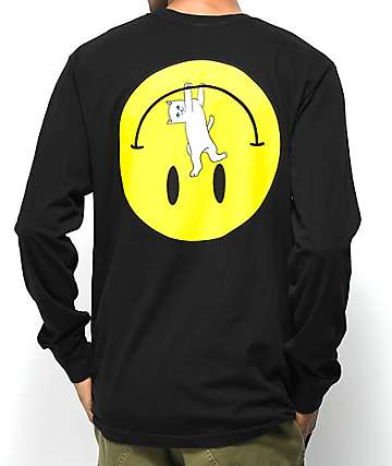 RIPNDIP Everything Will Be Okay Black Long Sleeve T-Shirt