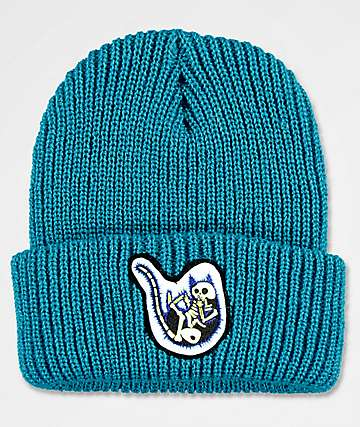 RIPNDIP Falling Electrocuted Nermal Teal Beanie