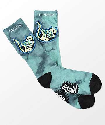 RIPNDIP Falling Electrocuted calcetines con efecto tie dye
