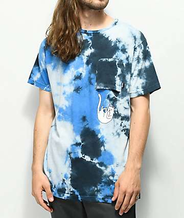 RIPNDIP Falling For Nermal Blue Tie Dye Pocket T-Shirt