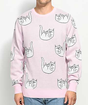 RIPNDIP Falling For Nermal Pink Crew Neck Sweatshirt