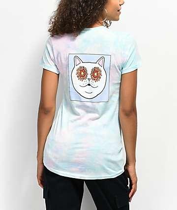 RIPNDIP Flower Eyes camiseta con efecto tie dye