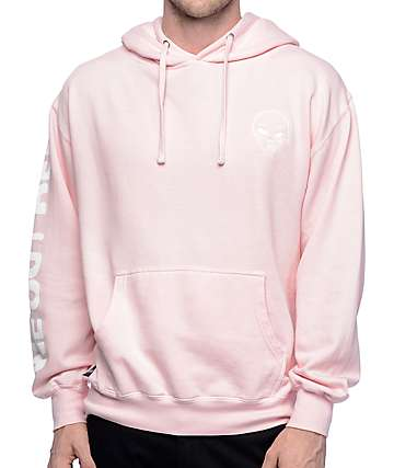 RIPNDIP Get Outer Here Light Pink Hoodie