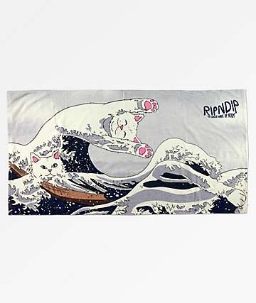 RIPNDIP Great Wave Of Nerm Beach Towel