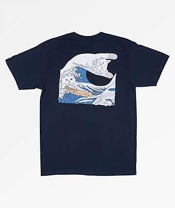 RIPNDIP Great Wave Of Nerm Navy T-Shirt