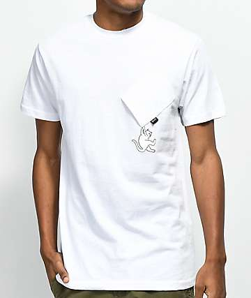 RIPNDIP Hang In There Nermal White Pocket T-Shirt