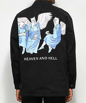 RIPNDIP Heaven And Hell Black Coaches Jacket