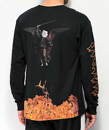RIPNDIP Hell Pit Black Long Sleeve T-Shirt