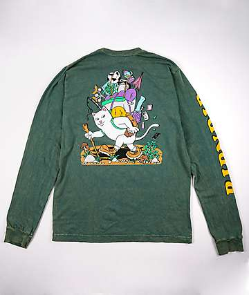 RIPNDIP Hiker Hunter Green Long Sleeve T-Shirt