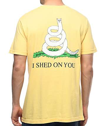 RIPNDIP I Shed On You Lemon T-Shirt