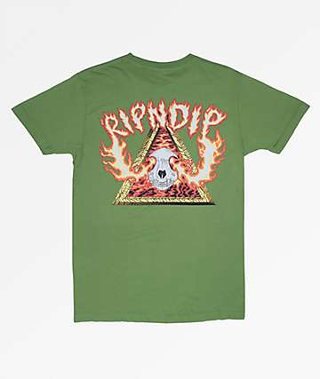 RIPNDIP Inferno Olive T-Shirt