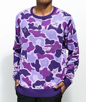 RIPNDIP Invisible Purple Sweater