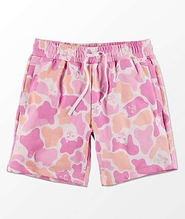 RIPNDIP Invisible shorts de punto de camuflaje rosa