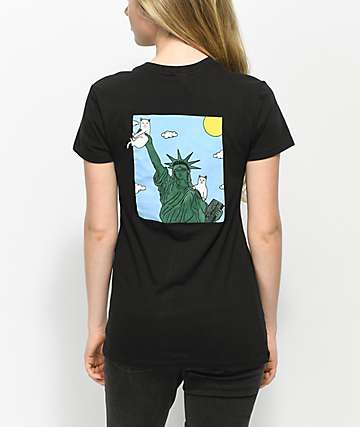 RIPNDIP Liberty Black Pocket T-Shirt