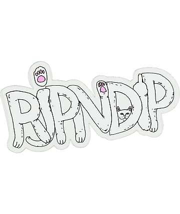 RIPNDIP Logo Cat Paws pegatina