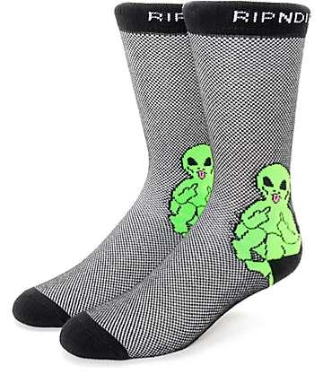 RIPNDIP Lord Alien Pin calcetines negros
