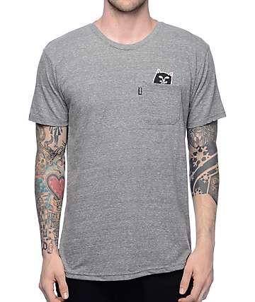 RIPNDIP Lord Jermal camiseta en gris jaspeado