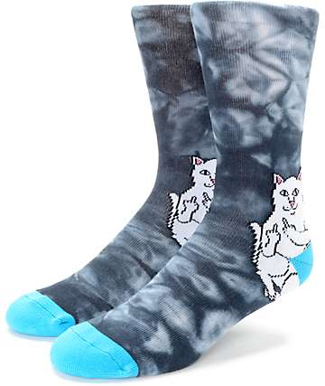 RIPNDIP Lord Nermal Acid Black & Blue Crew Socks