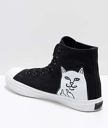 RIPNDIP Lord Nermal Black & White Hi-Top Shoes