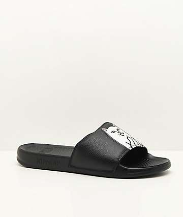 e67a8170a199c1 RIPNDIP Lord Nermal Black Slide Sandals
