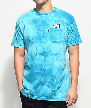 RIPNDIP Lord Nermal Blue Washed Pocket T-Shirt