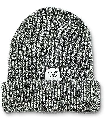RIPNDIP Lord Nermal Peppered Grey Beanie