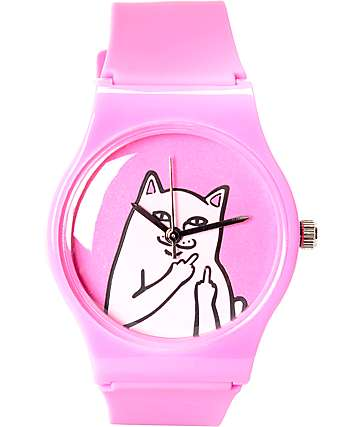 RIPNDIP Lord Nermal Pink Analog Watch