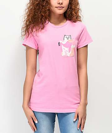 RIPNDIP Lord Nermal Pink Camo Pocket T-Shirt