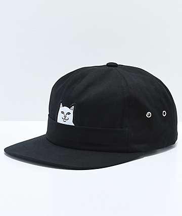 RIPNDIP Lord Nermal Pocket Black Six Panel Hat