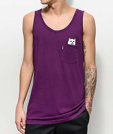 RIPNDIP Lord Nermal Pocket Plum Tank Top
