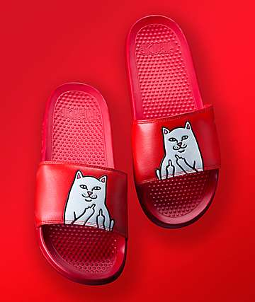 RIPNDIP Lord Nermal Red Slide Sandals