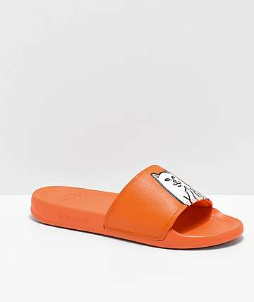 RIPNDIP Lord Nermal Safety Orange Slide Sandals