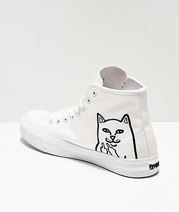 RIPNDIP Lord Nermal White Hi-Top Shoes