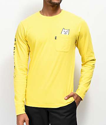 RIPNDIP Lord Nermal Yellow Long Sleeve T-Shirt