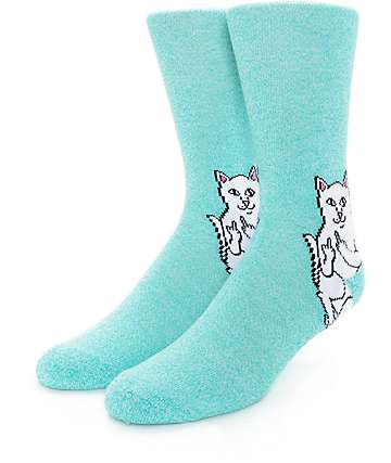 RIPNDIP Lord Nermal calcetines en color turquesa