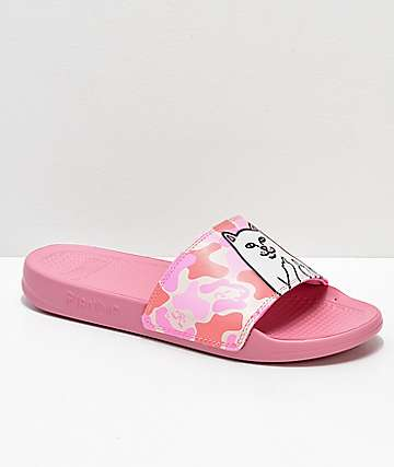 RIPNDIP Lord Nermal sandalias de camuflaje rosa