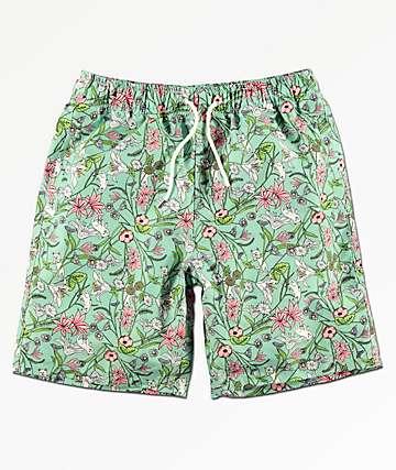 RIPNDIP Lord Nermal shorts de baño con estampado floral verde