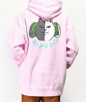RIPNDIP Money Talks Pink Hoodie
