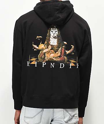 RIPNDIP Mother Fish Baby Black Hoodie