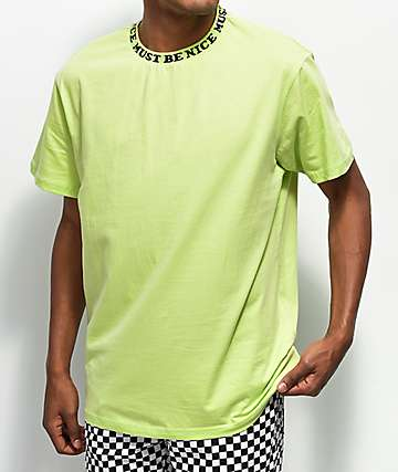 RIPNDIP Must Be Nice Jacquard Rib Lime T-Shirt
