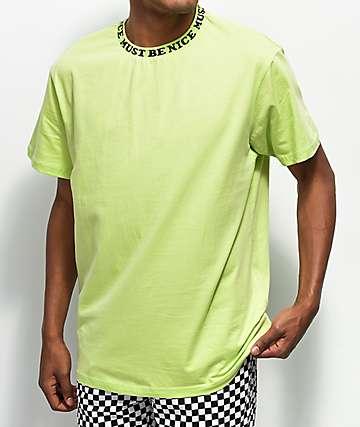 RIPNDIP Must Be Nice Jacquard Rib Lime T-Shirt