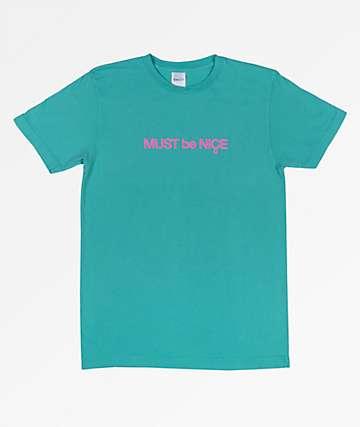 RIPNDIP Must Be Nice Puffy Print Teal T-Shirt