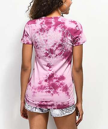 RIPNDIP Must Be Nice camiseta borgoña con efecto tie dye