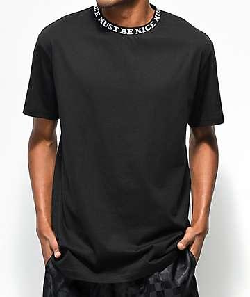 RIPNDIP Must Be Nice camiseta negra acanalada