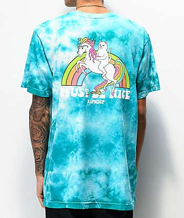 RIPNDIP My Little Nerm Blue Tie Dye T-Shirt