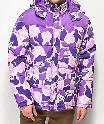 RIPNDIP Nerm Purple Camo Puffer Jacket