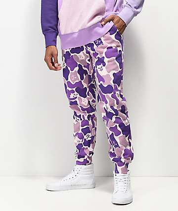 RIPNDIP Nermal Camo Purple Jogger Sweatpants