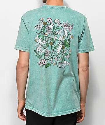 RIPNDIP Nermal Flowers camiseta verde salvia
