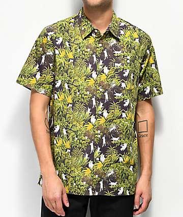 RIPNDIP Nermal Jungle Black Button Up Shirt
